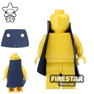 Custom Design Cape - Short Trenchcoat - Dark Blue