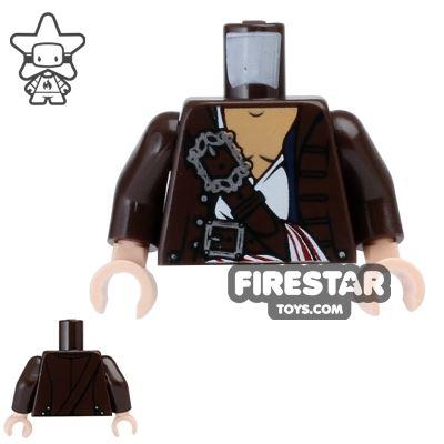 LEGO Mini Figure Torso - Jack Sparrow - Open Shirt