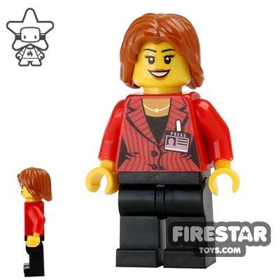 LEGO City Mini Figure - Press Reporter