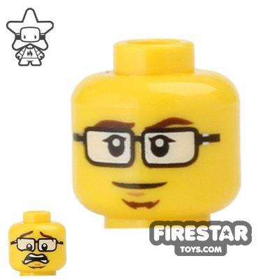 LEGO Mini Figure Heads - Glasses and Goatee