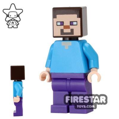 LEGO Minecraft Mini Figure - Steve - Dark Purple Legs