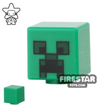 LEGO Mini Figure Heads - Minecraft Creeper