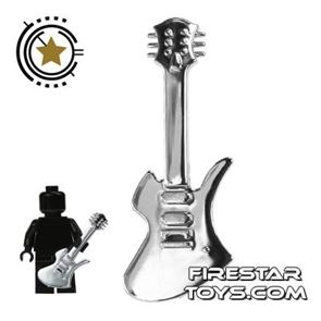 Amazing Armory -  Chrome Silver Electric Guitar 4