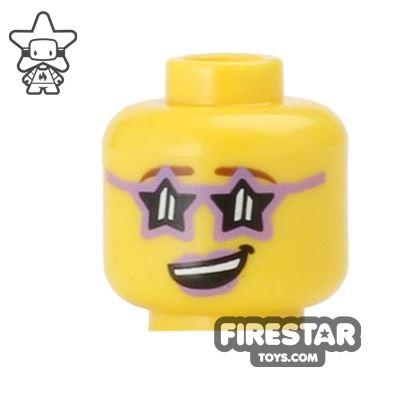 LEGO Mini Figure Heads - Disco Diva