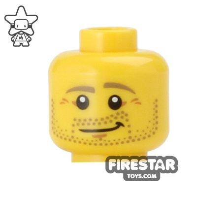 LEGO Mini Figure Heads - Stubble - Smile