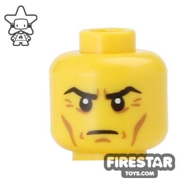LEGO Mini Figure Heads - Frown - Cheek Lines