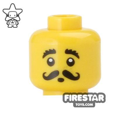 LEGO Mini Figure Heads - Curly Moustache