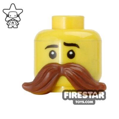 LEGO Hair - Moustache - Reddish Brown