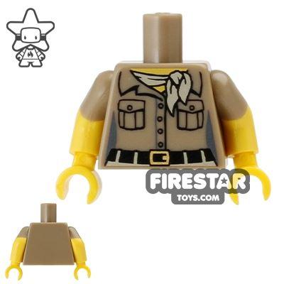 LEGO Mini Figure Torso - Safari Shirt