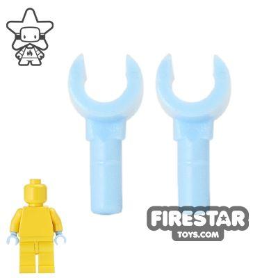 LEGO Mini Figure Hands - Pair - Bright Light Blue