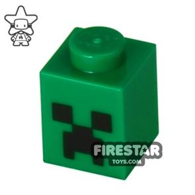Printed Brick 1x1 - Minecraft Creeper