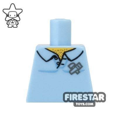 LEGO Mini Figure Torso - Carpenter Shirt - No Arms