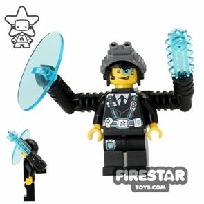 LEGO Ultra Agents Mini Figure - Agent Curtis Bolt with Weapons