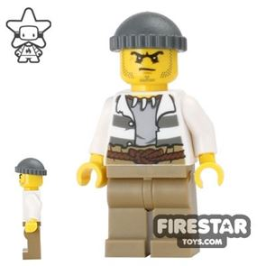 LEGO City Mini Figure - Swamp Police - Crook with Backpack