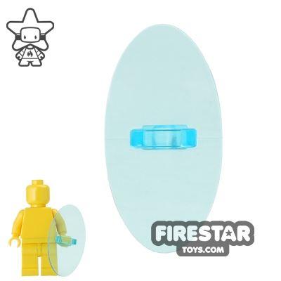 LEGO - Oval Shield - Trans Light Bue