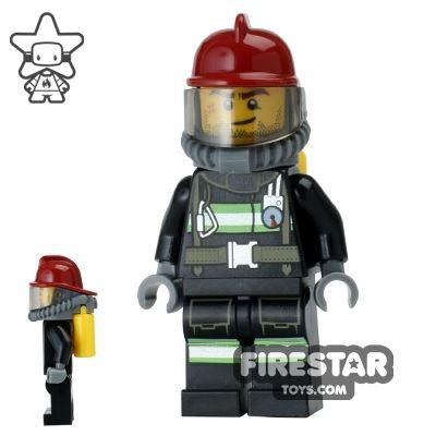 LEGO City Mini Figure - Fire - Yellow Airtanks 3