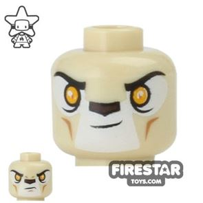 LEGO Mini Figure Heads - Lion Warrior