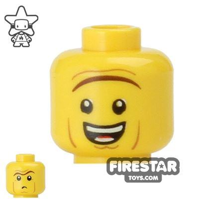 LEGO Mini Figure Heads - Heavy Eyebrow - Smile/Frown