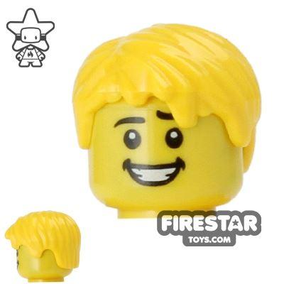 LEGO Hair - Short Tousled - Yellow