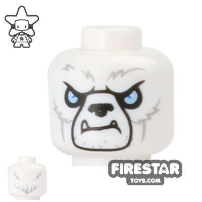 LEGO Mini Figure Heads - Ice Bear - Warrior 2