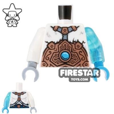 LEGO Mini Figure Torso - Ice Bear - Copper Armour and Fur Cape