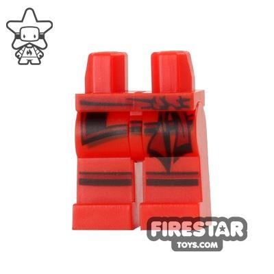 LEGO Mini Figure Legs - Ninjago - Red with Sash