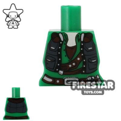 Arealight Mini Figure Torso - Smuggler - Green