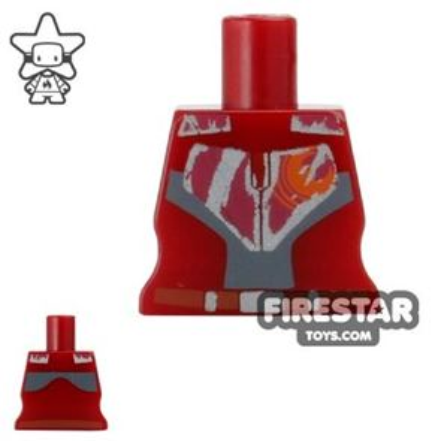 Arealight Mini Figure Torso - Rebel - Dark Red
