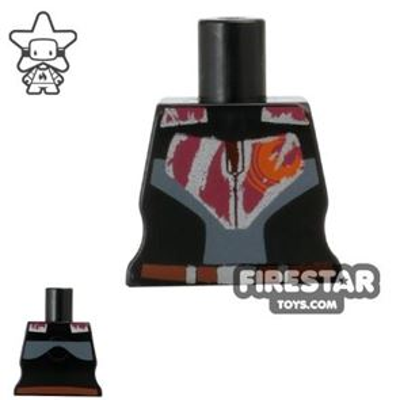 Arealight Mini Figure Torso - Rebel - Black