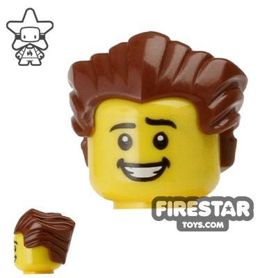 LEGO Hair - Slicked Back - Reddish Brown