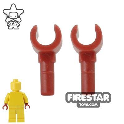 LEGO Mini Figure Hands - Pair - Dark Red