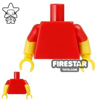 LEGO Mini Figure Torso - Red T-Shirt