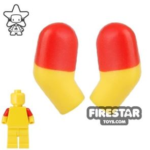 LEGO Mini Figure Arms - Pair - Red Short Sleeves