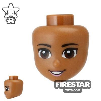 LEGO Disney Princess Mini Figure Heads - Brown Eyes and Open Smile