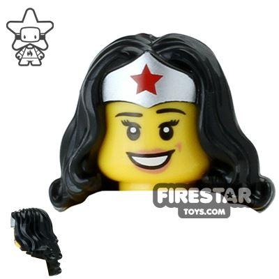 LEGO Hair - Long with Wonder Woman Tiara