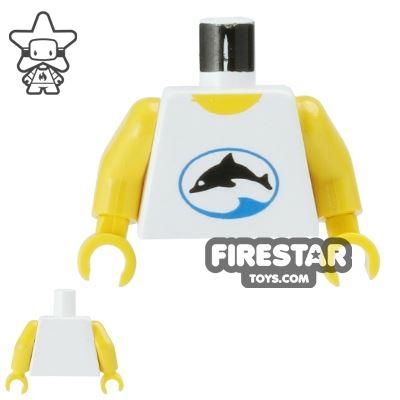 LEGO Mini Figure Torso - Dolphin Shirt