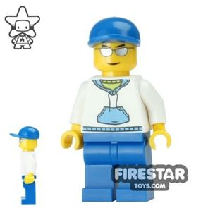 LEGO City Mini Figure - Boy with Hoodie and Cap