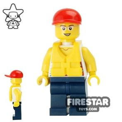 LEGO City Mini Figure - Coast Guard City - Dinghy Passenger