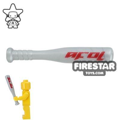 BrickForge - Aluminium Baseball Bat - Silver AFOL Print
