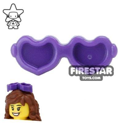 LEGO Hair Accessory - Heart Sunglasses - Dark Purple
