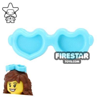 LEGO Hair Accessory - Heart Sunglasses - Medium Azure
