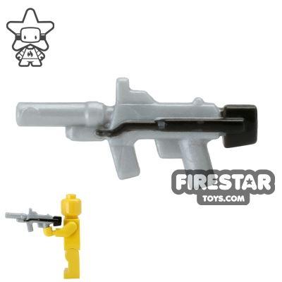 BrickForge - Sub Orbital Machine Gun - Silver and Black