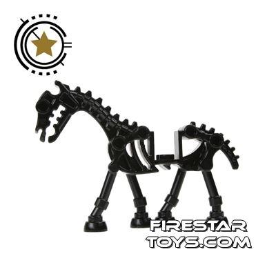 LEGO Animals Mini Figure - Black Skeletal Horse