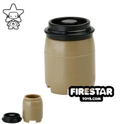 SI-DAN - BI120 Plastic Drum - Dark Tan