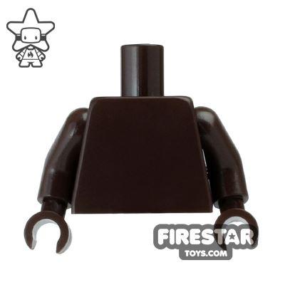 LEGO Mini Figure Torso - Plain Dark Brown