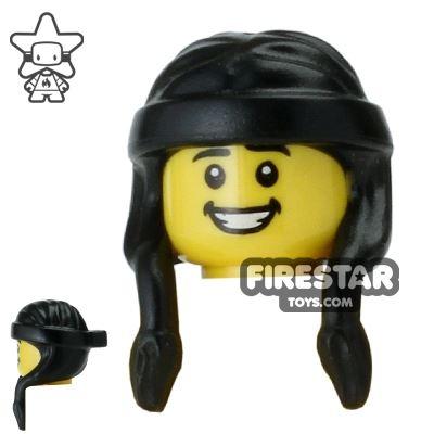 LEGO Hair - Long Braids with Headband - Black
