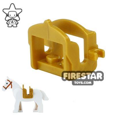 LEGO - Horse Saddle - Pearl Gold