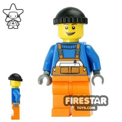 LEGO City Mini Figure - Orange Overalls 15