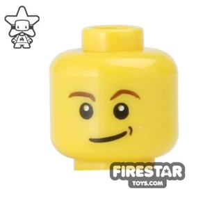 LEGO Mini Figure Heads - Lopsided Smile