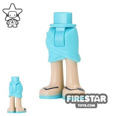 LEGO Elves Mini Figure Legs - Medium Azure Skirt and Sandals